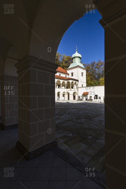 October 17, 2019: Europe, Poland, Lesser Poland Voivodeship, Zamek Suski, Castle in Sucha - Little Wawel