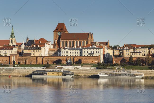 October 6, 2019: Europe, Poland, Kuyavian-Pomeranian Voivodeship, Torun, Thorn - Old Town seen from the Vistula