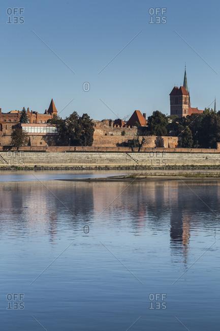 Europe, Poland, Kuyavian-Pomeranian Voivodeship, Torun, Thorn - Old Town seen from the Vistula