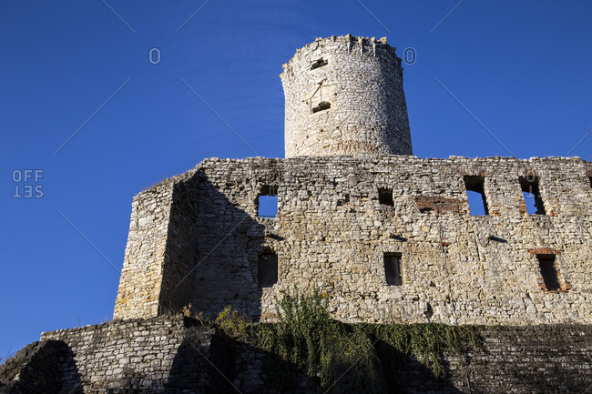 October 17, 2019: Europe, Poland, Lesser Poland Voivodeship, Zamek Lipowiec, Lipowiec castle