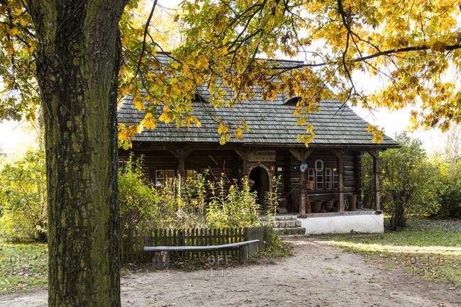 October 17, 2019: Europe, Poland, Lesser Poland Voivodeship, The Vistula Ethnographic Park - Wygielzow