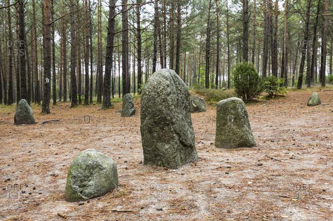 Europe, Poland, Pomerania, Kashubia, Kaschubei -  megalithic stone circles