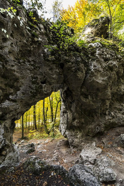Europe, Poland, Silesia, Krakow-Czestochowa Upland, Polish Jurassic Highland - Twardowski Gate