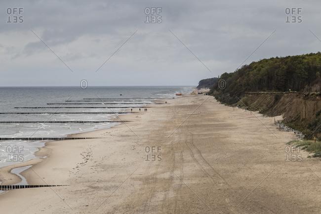 Europe, Poland, West Pomeranian Voivodeship, beach in Trzesacz, Hoff an der Ostsee