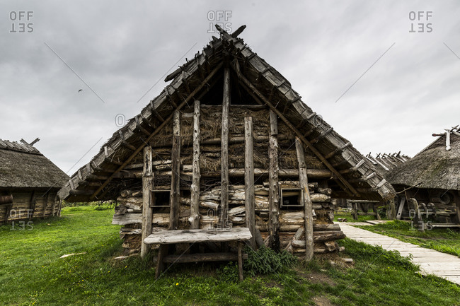 September 29, 2019: Europe, Poland, West Pomeranian Voivodeship, Slavs and Vikings� Center in Wolin
