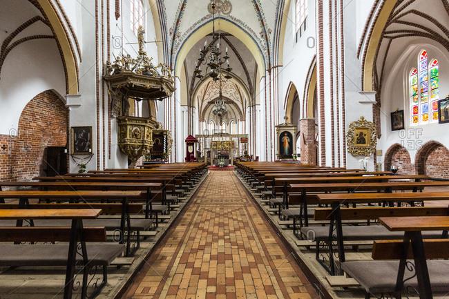 September 30, 2019: Europe, Poland, West Pomeranian Voivodeship, Kamien Pomorski, Cammin - Cathedral of St. John the Baptist