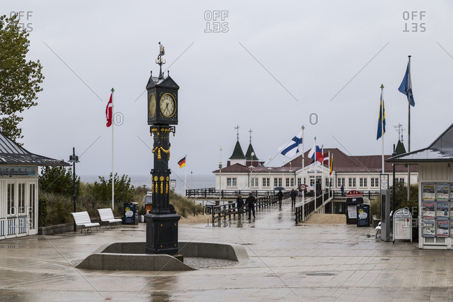 September 29, 2019: Europe, Germany,Usedom, Mecklenburg Western Pomerania, Pier in Ahlbeck