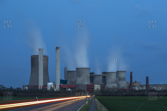 April 8, 2018: Neurath power plant, North Rhine-Westphalia, Germany