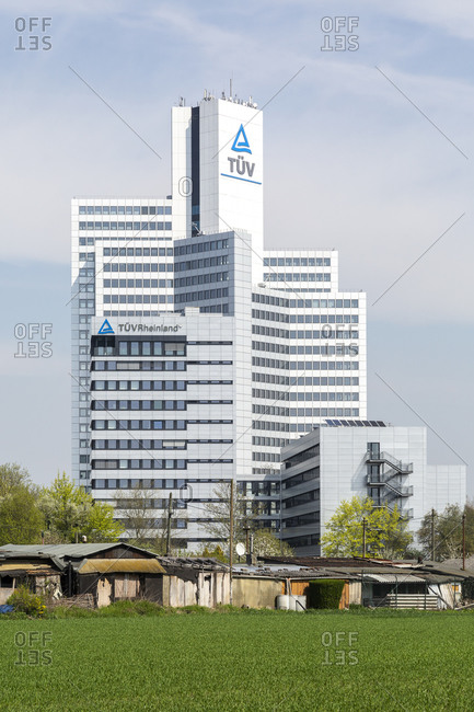 April 14, 2018: TuV Rheinland, high-rise, Cologne, North Rhine-Westphalia, Germany