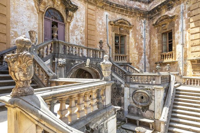 June 2, 2018: Villa Palagonia, landmark, Bagheria, Palermo, Sicily, Italy