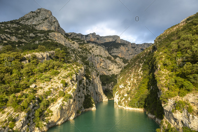 Verdon Gorge, Gorges du Verdon, also Grand Canyon du Verdon, is a gorge in the French Provence, Alpes-de-Haute-Provence, France