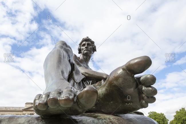 August 21, 2018: Detail shot, Queen Victoria Memorial, London, Great Britain