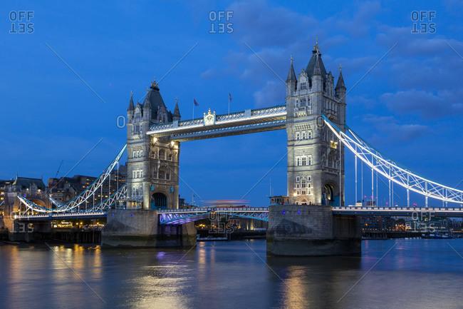 August 25, 2018: Tower Bridge, London, Great Britain