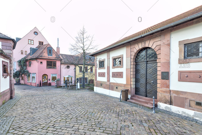 December 19, 2019: Kelterhaus, Stiftshof, Aschaffenburg, Franconia, Bavaria, Germany, Europe