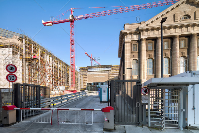 December 5, 2019: Pergamon Museum, museum, construction site, renovation, renovation, Museum Island, Berlin, Germany