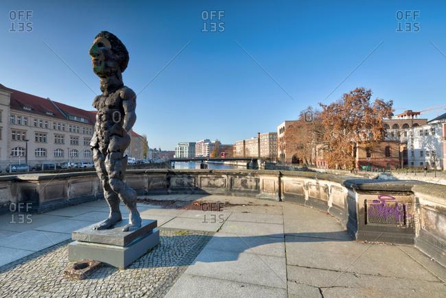 December 5, 2019: Spree Canal, Spree, house facades, Berlin Mitte, Museum Island, Berlin, Germany