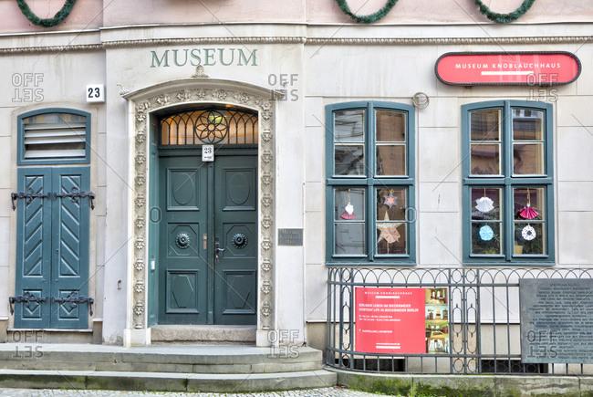 December 3, 2019: Knoblauchhaus, Museum, Nikolaiviertel, Berlin's historic center, Berlin, Germany