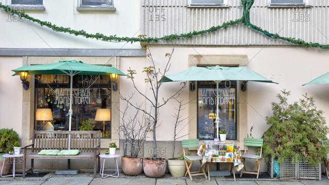 December 3, 2019: Coffee house, pastry shop, gastronomy, Nikolaiviertel, Berlin Mitte, Berlin, Germany