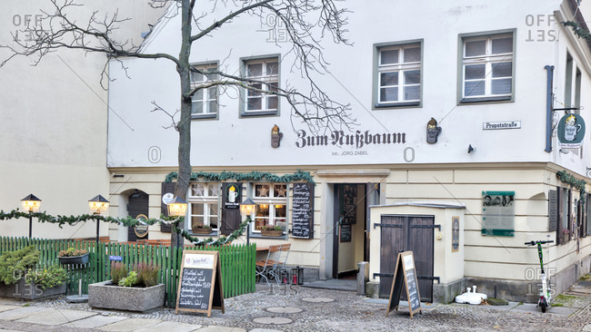 December 3, 2019: Zum Nussbaum, Schanke, tavern, restaurant, gastronomy, Nikolaiviertel, Berlin Mitte, Berlin, Germany