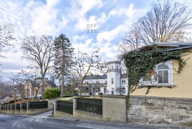 City villa, house facade, city architecture, Coburg, Upper Franconia, Bavaria, Germany, Europe,