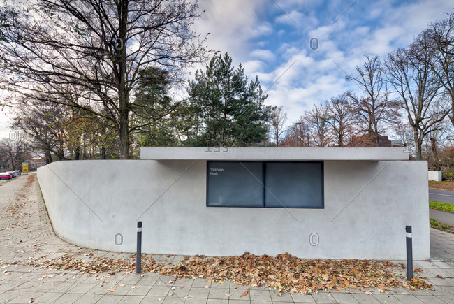 November 30, 2019: Masters' houses, drinking hall, kiosk, Bauhaus, Dessau-Rosslau, Saxony-Anhalt, Germany, architecture, house view,