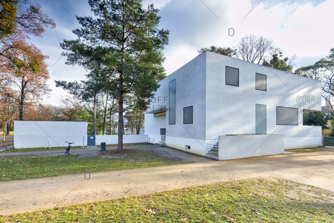 November 30, 2019: Masters' Houses, Gropius House, Bauhaus, Dessau-Rosslau, Saxony-Anhalt, Germany, architecture, house view,