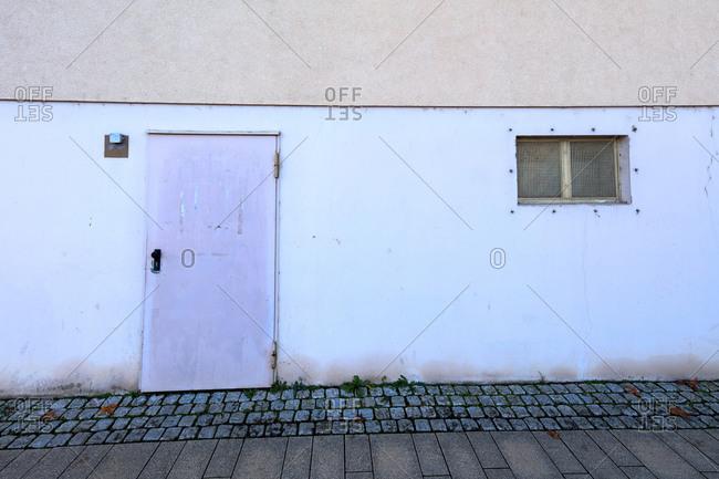 House facade, building, exterior view, minimalist, cool, Kitzingen, Franconia, Bavaria, Germany, Europe,