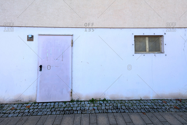 House facade, building, exterior view, minimalist, cool, Kitzingen, Franconia, Bavaria, Germany, Europe,