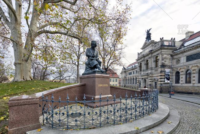 December 12, 2019: Sculpture collection, Bruhlsche Terrasse, Dresden, Saxony, Germany, Europe,