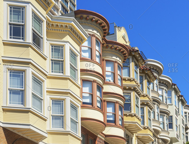 View of Victorian houses, San Francisco, California, USA