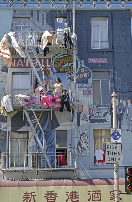October 1, 2019: Mural on building, San Francisco, California, USA
