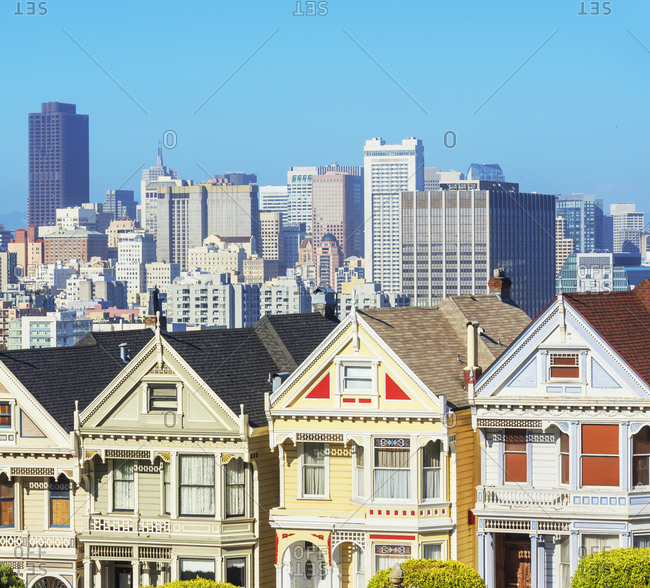 November 1, 2019: The Painted Ladies, Alamo Square, San Francisco, California, USA