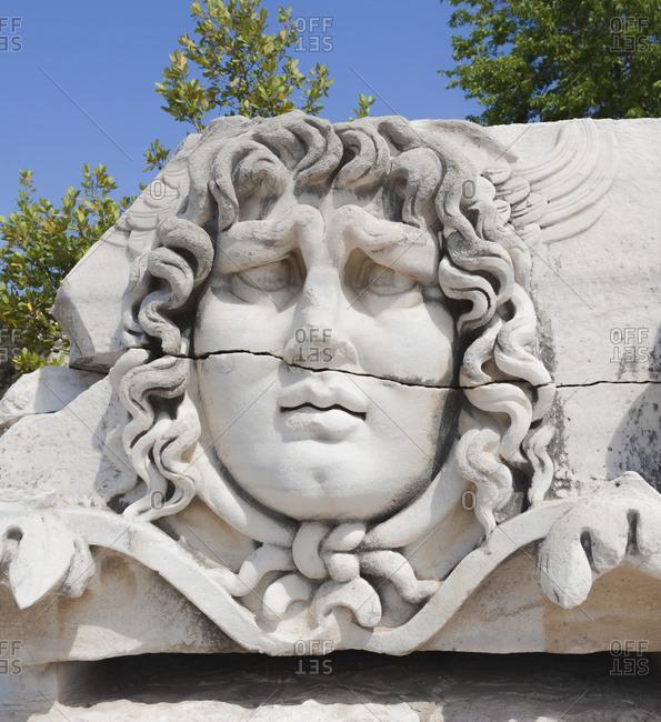 Head of Medusa, Didyma, Anatolia, Turkey, Asia