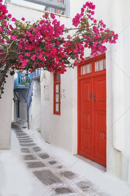 June 9, 2019: Mykonos Town, Mykonos, Cyclades Islands, Greece