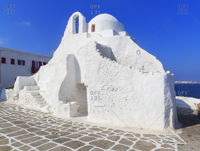 Panagia Paraportian chapel, Mykonos Town, Mykonos, Cyclades Islands, Greece