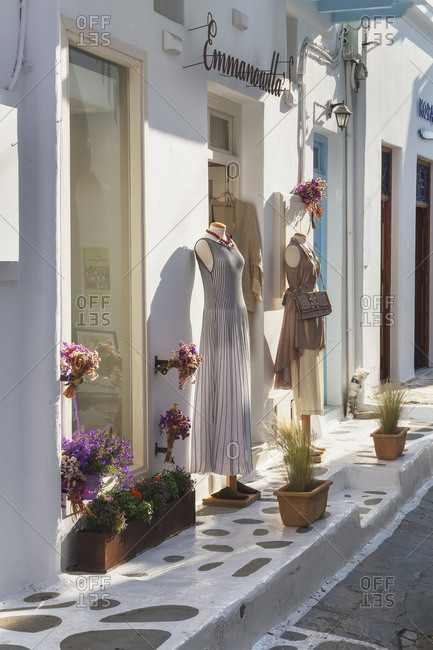 June 10, 2019: Mykonos Town, Mykonos, Cyclades Islands, Greece