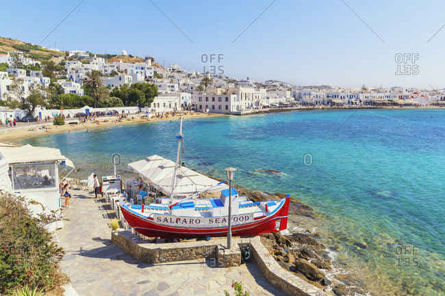June 11, 2019: Mykonos Town, Mykonos, Cyclades Islands, Greece