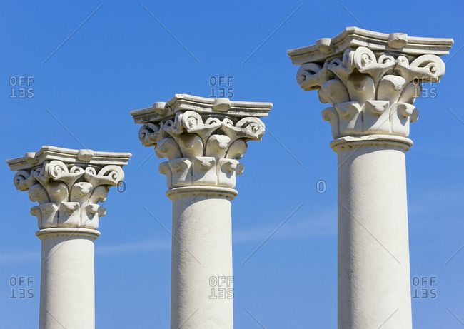 Temple of Apollo columns, Asklepion, Kos, Dodecanese Islands, Greece, Europe