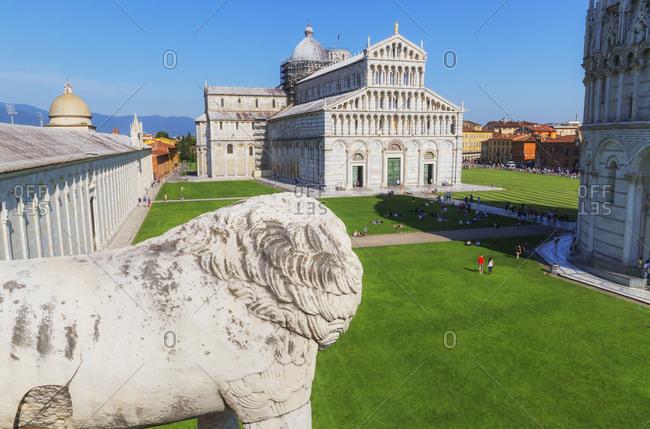 Campo dei Miracoli, top view, Pisa, Tuscany, Italy, Europe