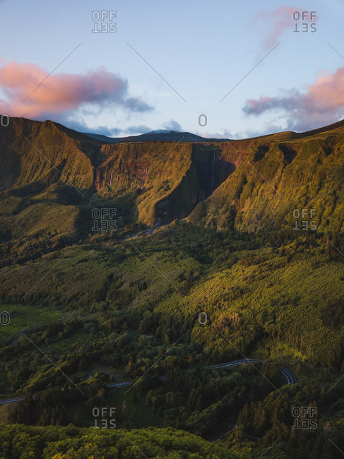 View of landscape in Azores, Flores, landscape, nature