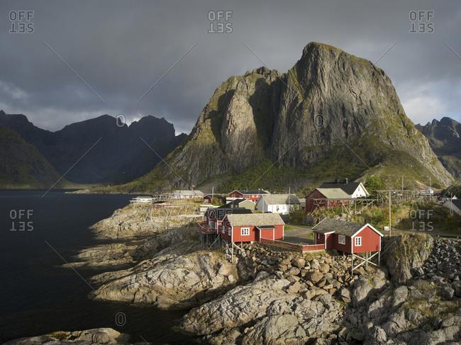 View of landscape in Hamnoy, Lofoten, Norway