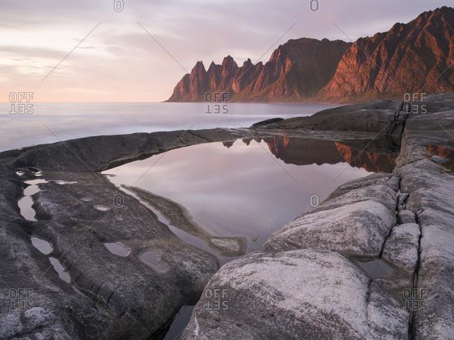 View of landscape in Tungeneset, Senja Island, Norway