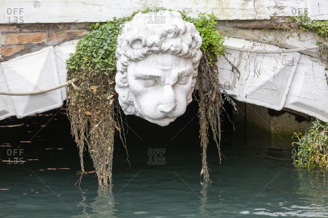 View of landscape in Detail, bridge, Venice, Italy