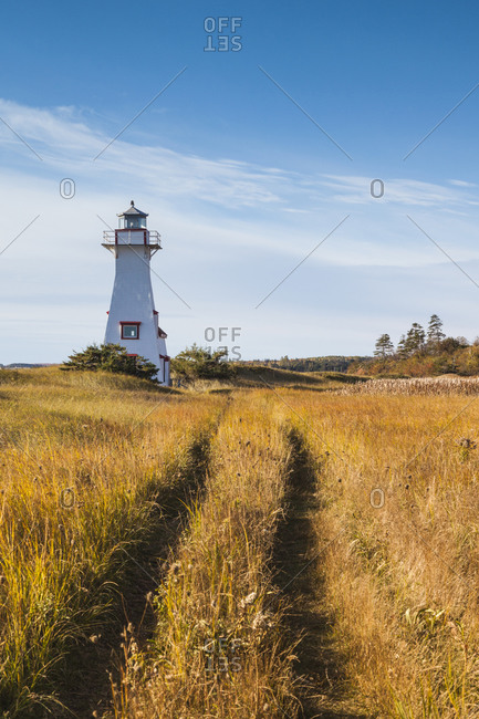 Canada, Prince Edward Island, New London Lighthouse.