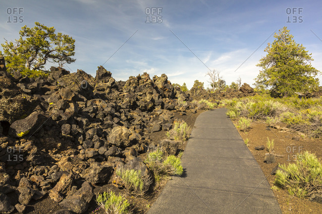 USA, Idaho, Craters Of The Moon National Monument and Preserve, Devil's Orchard Nature Trail
