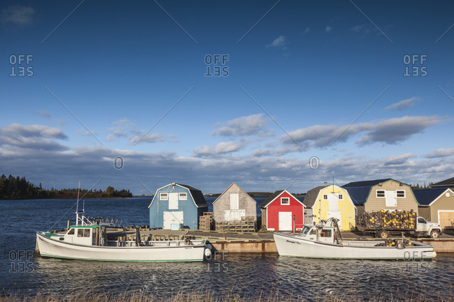 October 16, 2018: Canada, Prince Edward Island, New London. Small fishing harbor.