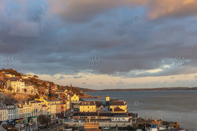 October 27, 2018: Dusk in Cobh, Ireland
