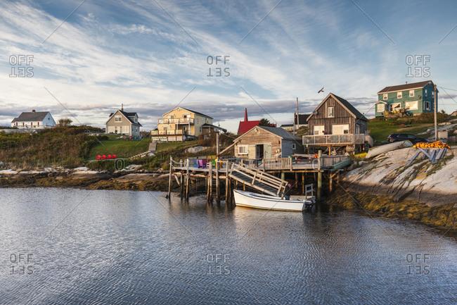 September 30, 2018: Canada, Nova Scotia, Peggy's Cove. Fishing village on the Atlantic Coast.