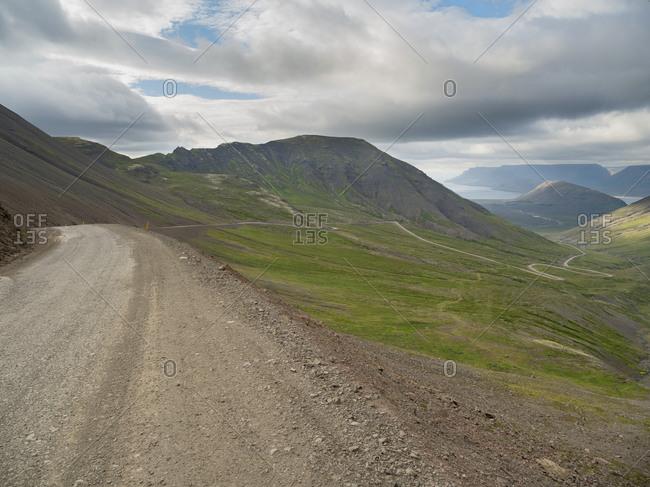 Landscape on the Thingeyri peninsula, northwest Iceland.