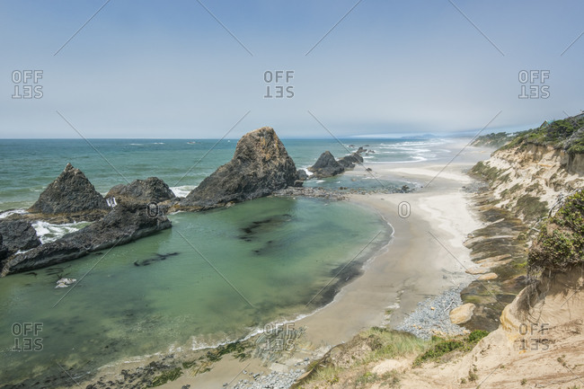 USA, Oregon. Seal Rocks State Park, Seal Rocks.